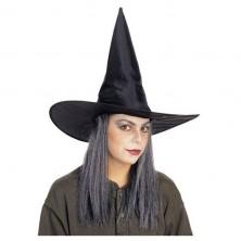 Čarodejnícky klobúk šuštiak s vlasmi