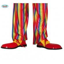 Červeno-žlté topánky pre klauna