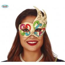 Farebná benátska maska