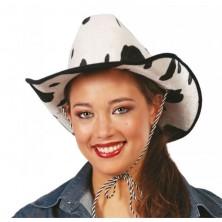 Kovbojský klobúk čierno-biely filcový