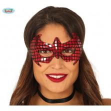 Červená pavúčie maska