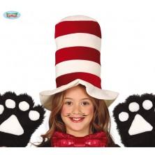 Červeno-biely klobúk detský