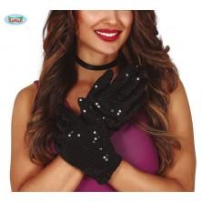 Flitrové rukavice krátke