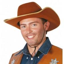 Kovbojský klobúk hnedý filcový