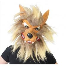Maska vlka s vlasmi