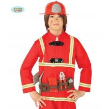 Sada hasič - prilba, opasok a náradie