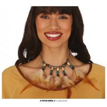 Indiánsky náhrdelník s perím