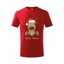 Detské tričko Veselé Vianoce červené