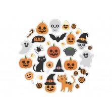 Halloweenska sada nálepiek v kruhu