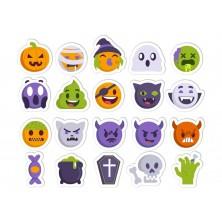 Halloweenska sada nálepiek emoji