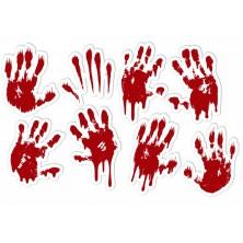 Nálepky krvavé ruky