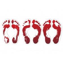 Nálepky krvavé nohy