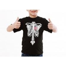 Detské tričko kostra rentgen