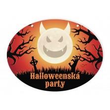 Halloweenska cedule mesiac