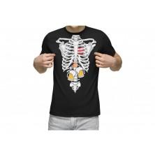 Pánske tričko röntgen s pivom