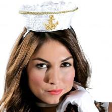 Mini klobúčik námornícky na spone