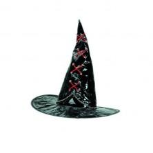 Čarodejnícky s červeným prešívaním