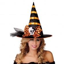 Čierno-oranžový čarodejnícky klobúk