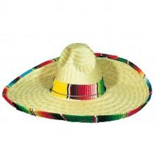 Klobúk mexický s farebným lemom