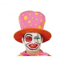 Klaunovsky klobúk oranžovo-ružový