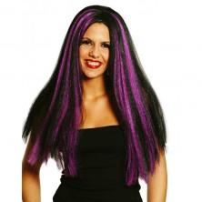 Parochňa čarodejnice čierno-fialová
