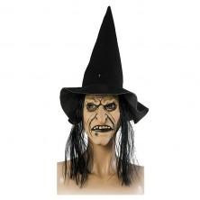 Maska čarodejnica + klobúk s vlasmi