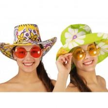 Veľké okuliare Hippie - mix farieb