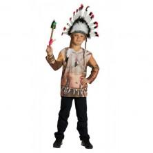 Tričko s potlačou indián