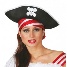 Pirátsky klobúk filcový
