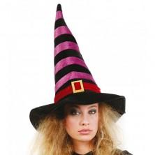 Čarodejnícky klobúk čierno - vínový