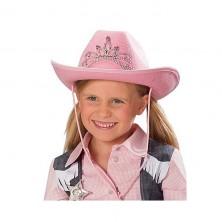 Kovboj detský ružový s diadémom