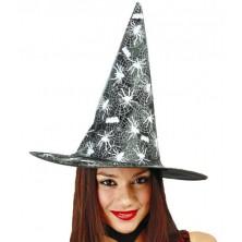 Čarodejnícky klobúk s pavúkmi a sietí