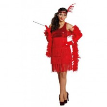 Charleston Girl červené šaty