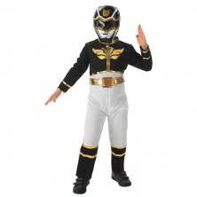 Black Power Ranger Flat Chest - Megaforce - licenčný kostým