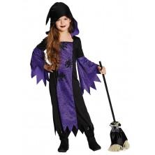Fialová čarodejnice s kapucňou