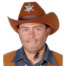 Pánsky kovbojský klobúk hnedý s hviezdou