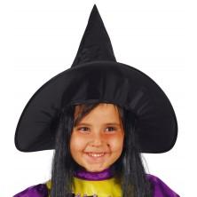 Klobúk čarodejnícky detský s vlasmi