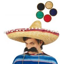 Mexický klobúk s pomponi