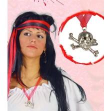 Pirátsky prívesok - lebka s hnátmi