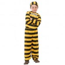 Kostým väzeň žltý