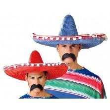 Mexické klobúky s pomponem color mix 61 cm