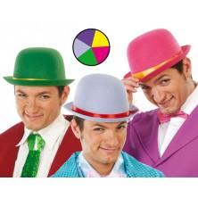 Filcový tvrdý klobúk farebný