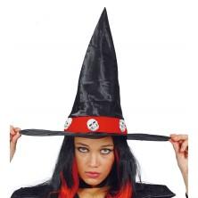 Čarodejnícky klobúk s lebkami