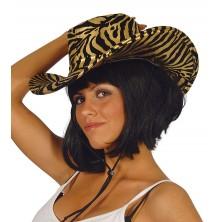 Dámsky klobúk s tigrím motívom
