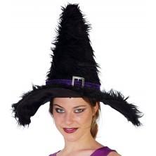 Čarodejnícky klobúk so sponou čierny