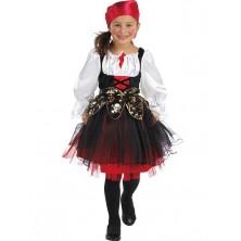 Pirátsky kostým detský s šatkou na hlavu