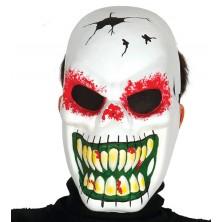 Maska skelet biela - halloween