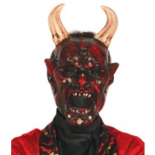 Maska lucifer s rohmi