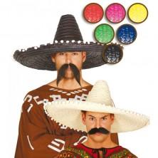 Mexický klobúk farebný 61 cm