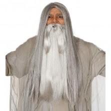 Veľké fúzy šedej vlasovej